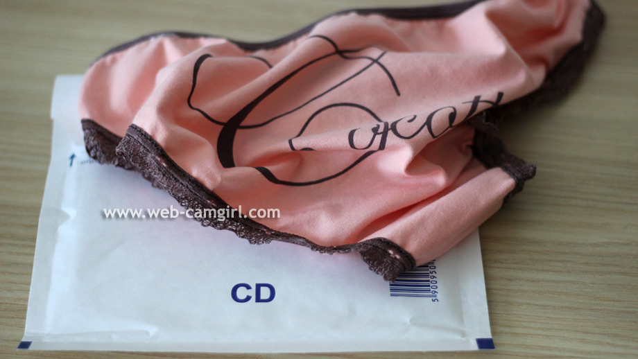 unboxing Karina's used panties from envelope